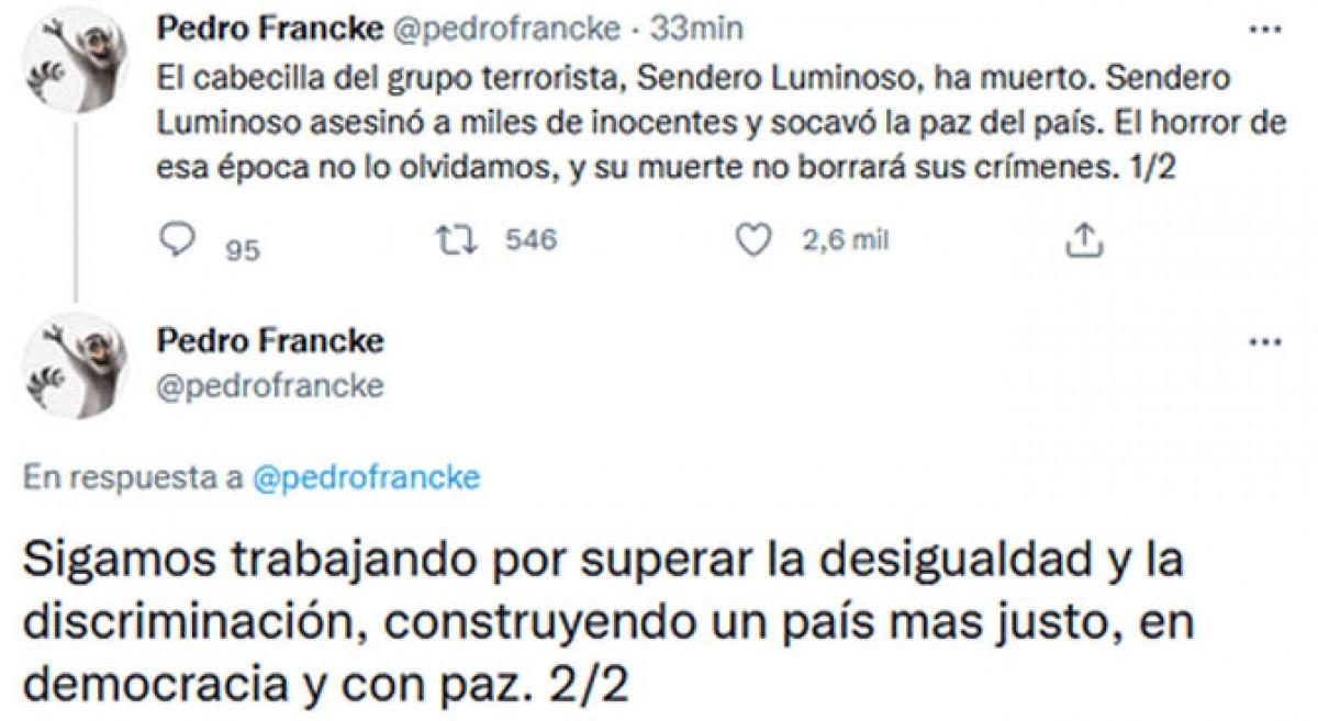 Pedro Francke se pronuncia
